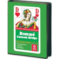 BARAJA ROMME 2x55 CARTAS CAJA CARTON MARIGO