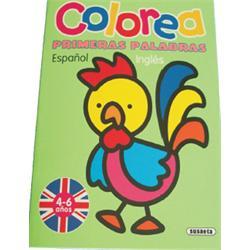 LIBRO COLOREA - PRIMERAS PALABRAS ESP./ING.