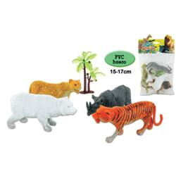 ANIMALES SELVA X 5 UNID. SURTIDOS 17x29 CMS
